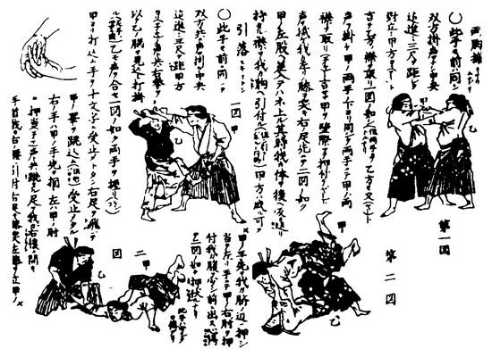старое японское пособие по джиу-джитсу