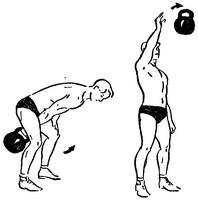 Жонглирование гирей одной рукой